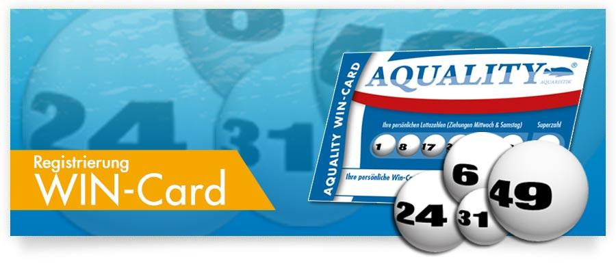 Registrierung AQUALITY WIN-Card