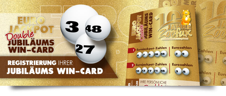 Limitierte Double JUBILÄUMS EuroJackpot WIN-Card